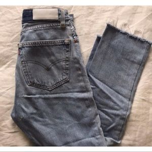 Re/Done Levi's High Rise Crop Jeans